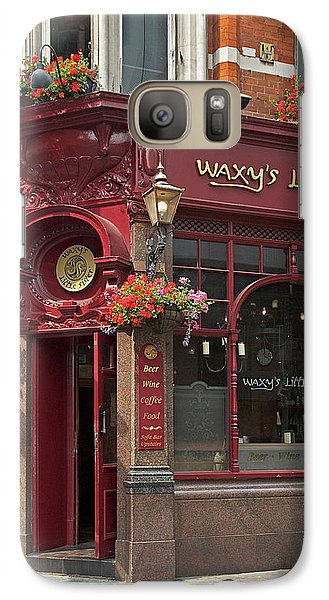 Galaxy Case featuring the photograph Waxy's Little Sister Pub by Cheri Randolph