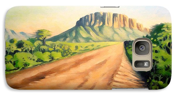 Galaxy Case featuring the painting Way To Maralal by Anthony Mwangi