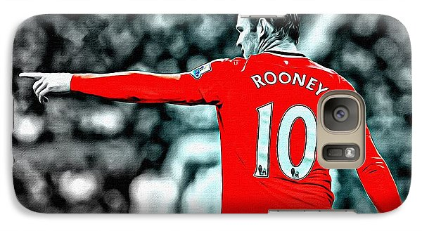 Wayne Rooney Poster Art Galaxy S7 Case