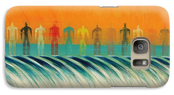 Galaxy Case featuring the painting We Are All The Same by Tim Mullaney