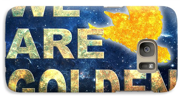 Galaxy Case featuring the digital art We Are Golden by Ginny Gaura