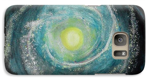 Galaxy Case featuring the painting We Are Here by Carol Duarte