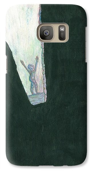 Galaxy Case featuring the drawing We Are Not Omnipotent by Giuseppe Epifani