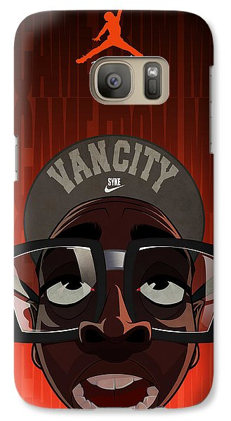 Galaxy Case featuring the drawing We Came From Mars by Nelson Dedos  Garcia