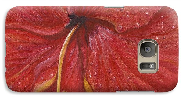 Galaxy Case featuring the painting We Have Had Rain by Carol Wisniewski