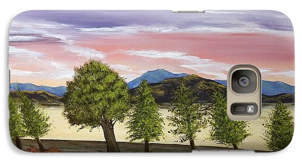 Galaxy Case featuring the painting We Learn To Bend To The Wind by Susan Culver
