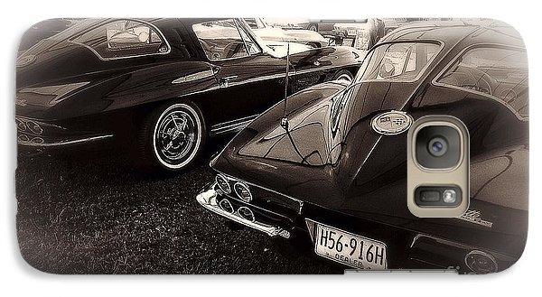 Galaxy Case featuring the digital art We Love Corvettes  by Delona Seserman