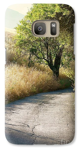 Galaxy Case featuring the photograph We Will Walk This Path Together by Ellen Cotton