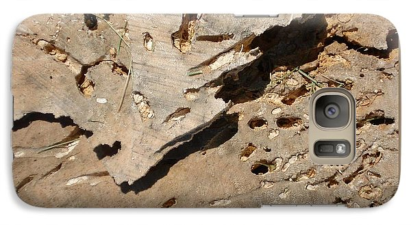 Galaxy Case featuring the photograph Weathered Willow Wood-ii by Patricia Overmoyer