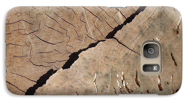 Galaxy Case featuring the photograph Weathered Willow Wood by Patricia Overmoyer