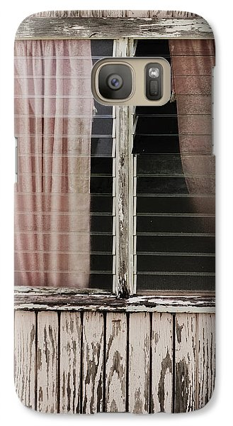 Galaxy Case featuring the photograph Weathered Window by Gary Slawsky