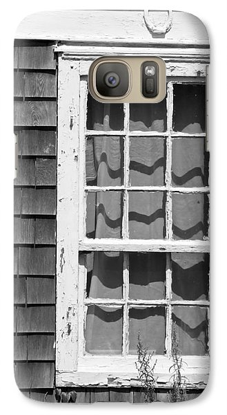 Galaxy Case featuring the photograph Weathered Window With Lucky Horseshoe by Brooke T Ryan