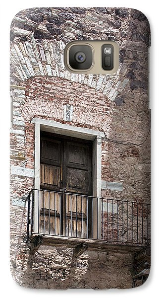 Galaxy Case featuring the photograph Weathered Wooden Church Doors by Lynn Palmer
