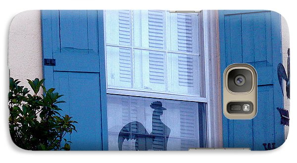 Galaxy Case featuring the photograph Charleston Weathervane Reflection by Kathy Barney