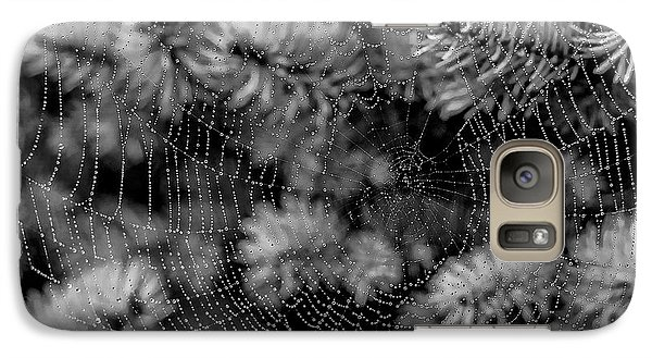 Galaxy Case featuring the tapestry - textile Web Drops by Dennis Bucklin