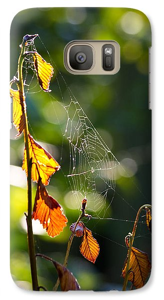 Galaxy Case featuring the photograph Web Support by Adria Trail