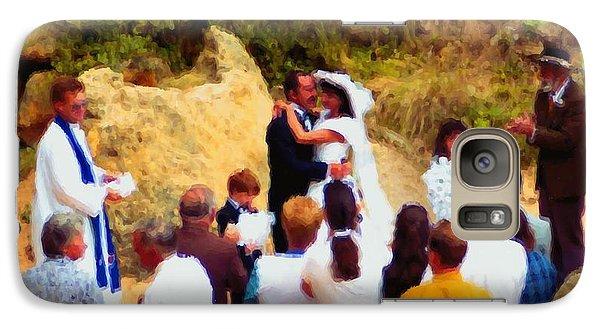 Galaxy Case featuring the digital art Wedding At Loch Ard Gorge by Dennis Lundell