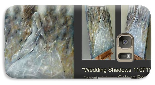 Galaxy Case featuring the painting Wedding Shadows 110710 by Selena Boron