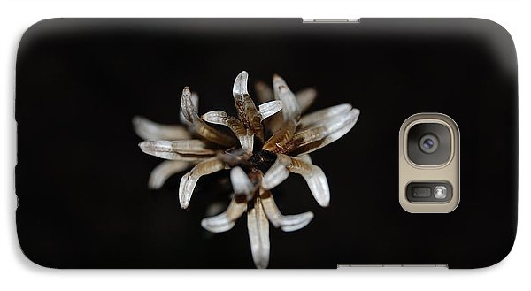 Galaxy Case featuring the photograph Weed On Black by Mim White