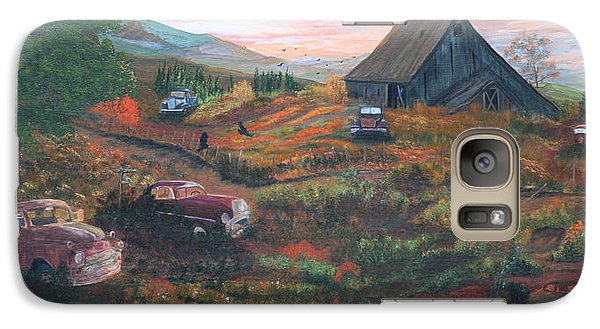 Galaxy Case featuring the painting Weeds And Rust by Myrna Walsh
