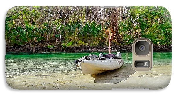 Galaxy Case featuring the photograph Weeki Wachee Beach by Pamela Blizzard