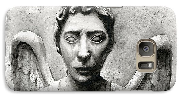Science Fiction Galaxy S7 Case - Weeping Angel Don't Blink Doctor Who Fan Art by Olga Shvartsur