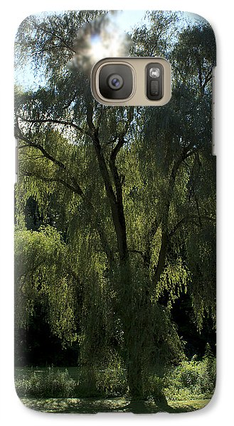 Galaxy Case featuring the photograph Weeping Willow by Barbara Giordano