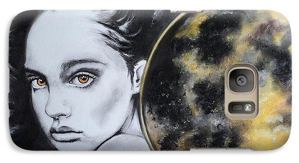 Galaxy Case featuring the drawing Weight Of The World by Carla Carson
