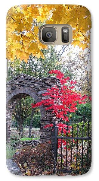 Galaxy Case featuring the photograph Welcome Autumn by Brooks Garten Hauschild