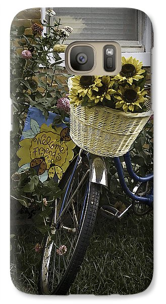 Galaxy Case featuring the photograph Welcome Friends by Wayne Meyer