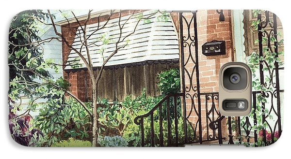 Galaxy Case featuring the painting Welcome Home by Barbara Jewell