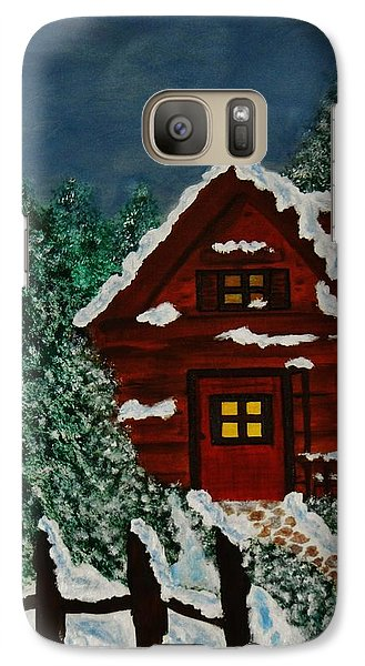 Galaxy Case featuring the painting Welcome Home by Celeste Manning