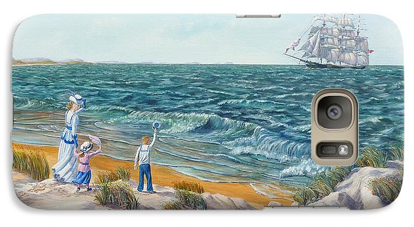Galaxy Case featuring the painting Welcome Home Father by Anthony Lyon
