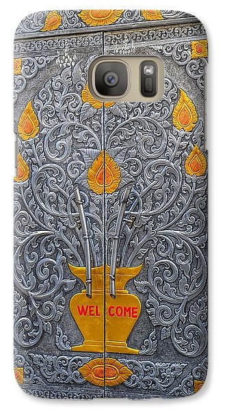 Galaxy Case featuring the photograph Welcome by Mary Zeman