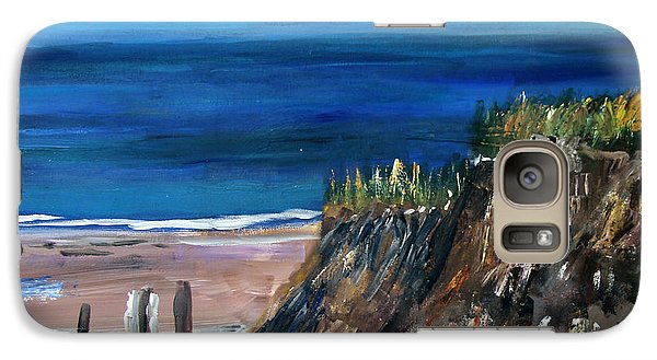 Galaxy Case featuring the painting Welcome To The Beach by Michael Helfen