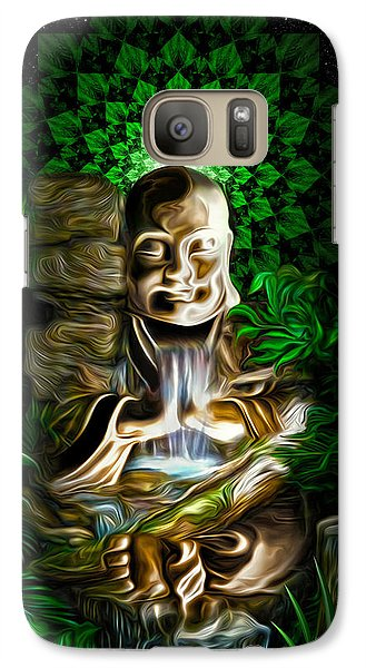 Galaxy Case featuring the painting Well Of The Heart by Jalai Lama