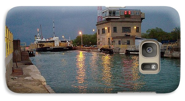 Galaxy Case featuring the photograph Welland Canal Locks by Barbara McDevitt