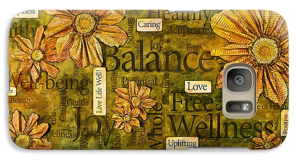 Galaxy Case featuring the painting Wellness by Lisa Fiedler Jaworski