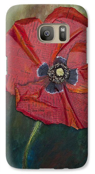 Galaxy Case featuring the painting Wellness Poppy by Lisa Fiedler Jaworski