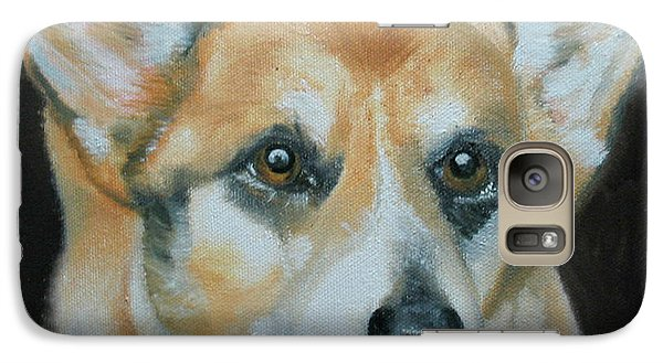 Galaxy Case featuring the painting Welsh Corgi by Thomas J Herring