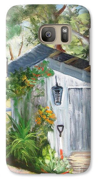 Galaxy Case featuring the painting Wendy's Shed by Barbara Haviland