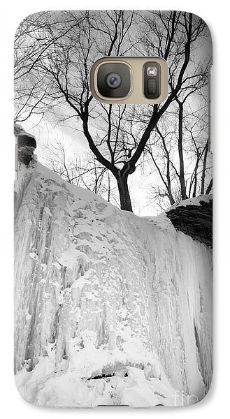 Galaxy Case featuring the photograph Wequiock Walls Of Ice by Mark David Zahn