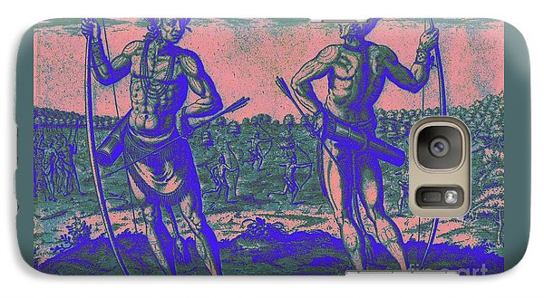 Galaxy Case featuring the drawing Weroans Of Virginia 1590 by Peter Gumaer Ogden
