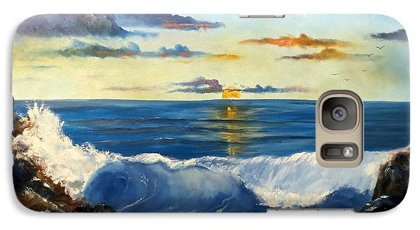 Galaxy Case featuring the painting West Coast Sunset by Lee Piper