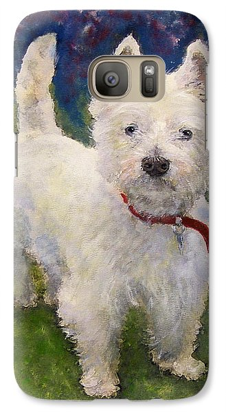 Galaxy Case featuring the painting West Highland Terrier Holly by Richard James Digance