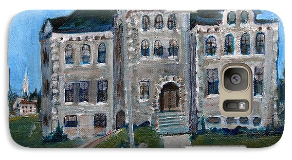 Galaxy Case featuring the painting West Hill School In Canajoharie New York by Betty Pieper