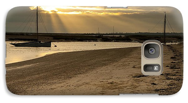 Galaxy Case featuring the photograph West Mersea Beach by David Isaacson