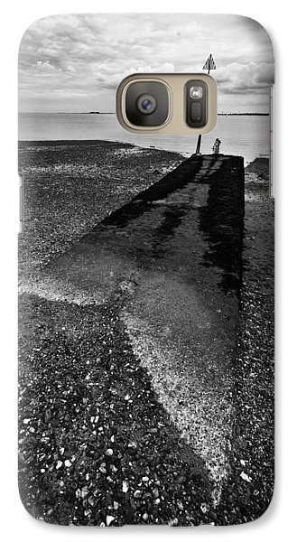 Galaxy Case featuring the photograph West Mersea Sea View by David Isaacson