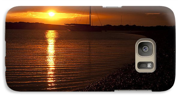 Galaxy Case featuring the photograph West Mersea Sunset by David Isaacson