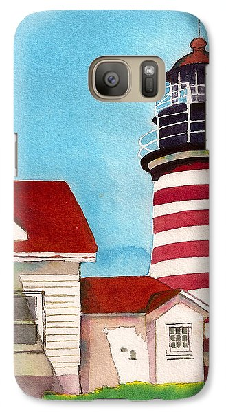 Galaxy Case featuring the painting West Quoddy Light House by Nan Wright
